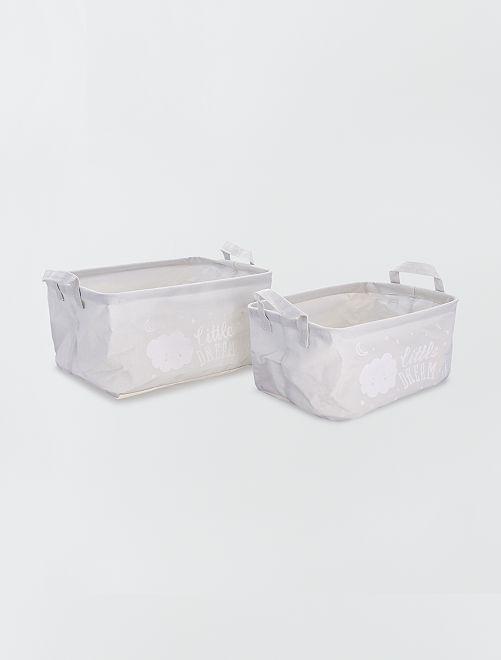 2 cestini portaoggetti                                         grigio