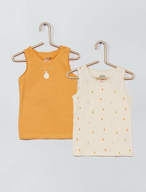 2 magliette intime eco-sostenibili                                         GIALLO