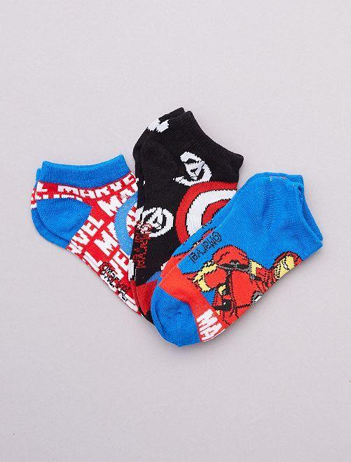 3 paia di calzini 'Avengers' 'Marvel'                                         BLU