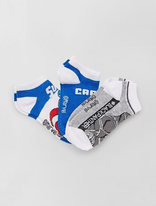 3 paia di calzini 'Capitan America' 'Marvel'                                         BLU