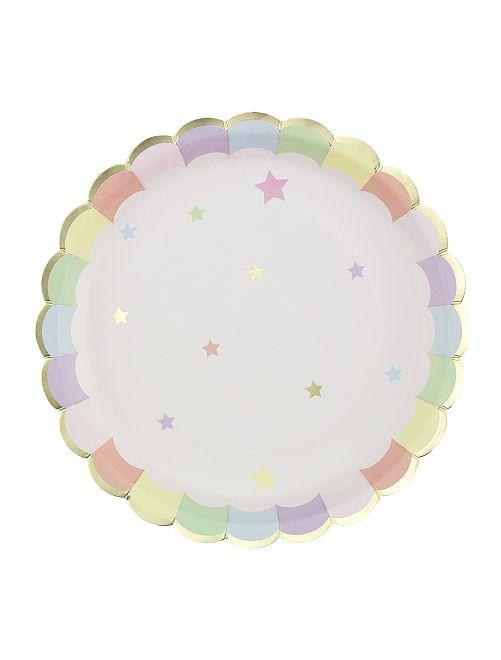 8 piatti di carta                             BEIGE