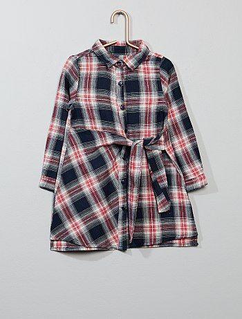 Bambina 3-12 anni - Abito camicia a quadretti - Kiabi