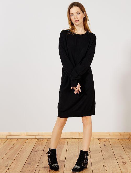 Abito pullover maglina                             nero Donna
