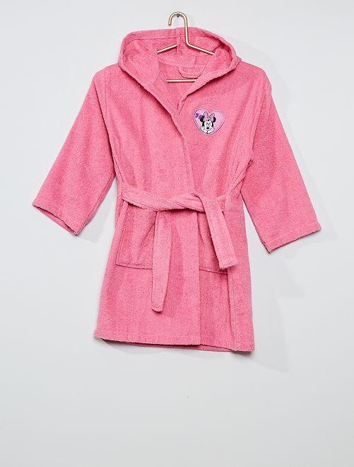 Accappatoio in maglia di pile 'Minnie' di 'Disney'                             rosa
