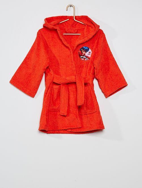 Accappatoio in maglia di pile 'Miraculous'                             rosso