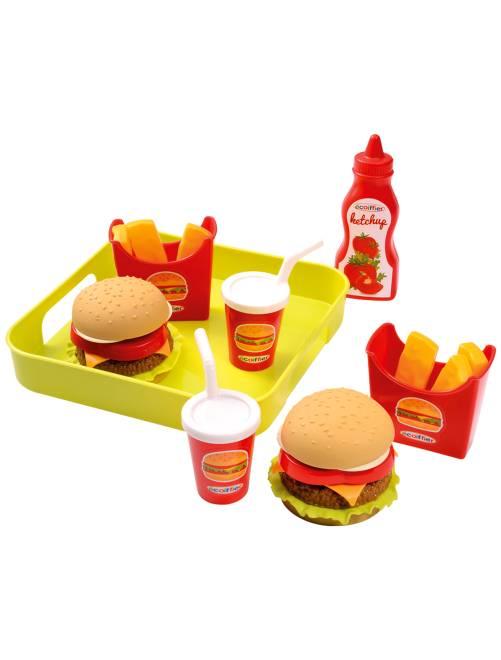 Accessori da cucina fast food giocattolo                             multicolore