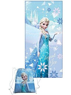 Cartelle, grembiuli per la scuola - Asciugamano + borsa da piscina 'Frozen - Il regno di ghiaccio' - Kiabi