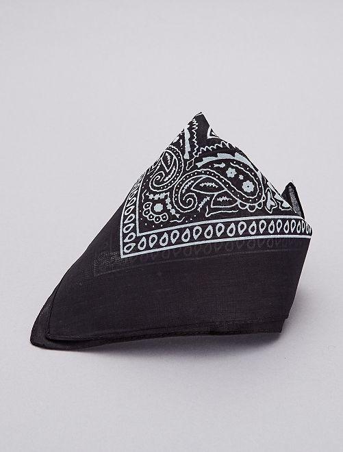 Bandana cotone stampato                                         nero