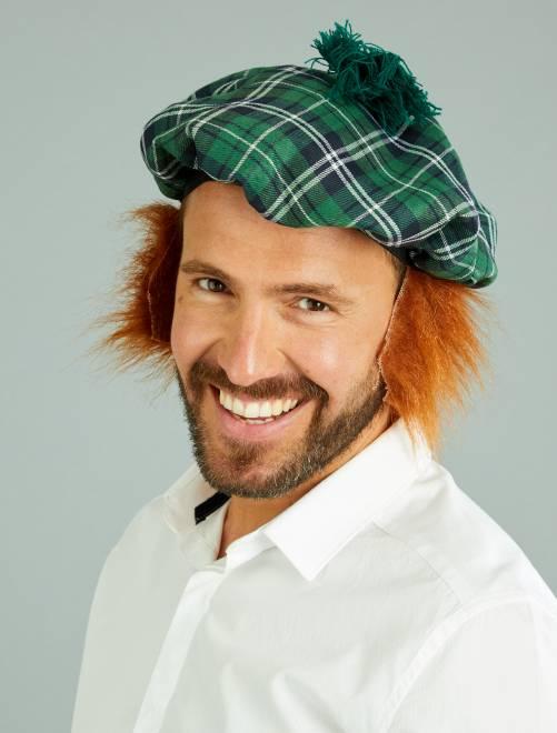Basco scozzese parrucca integrata                             verde
