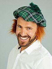 Basco scozzese parrucca integrata