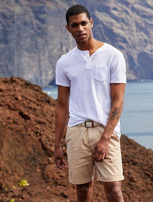 Bermuda chino + cintura                                                                                                                 BEIGE Uomo