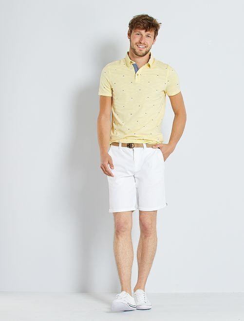 Bermuda chino + cintura                                         bianco