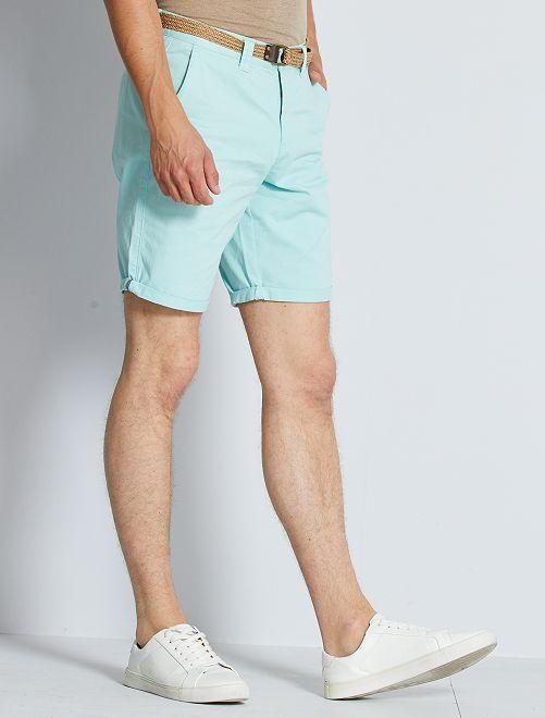 Bermuda chino + cintura                                                                                                                 blu grigio