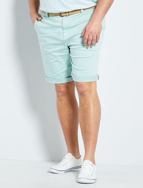 Bermuda chino + cintura                             blu