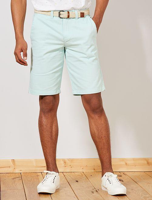 Bermuda chino + cintura                                                                                         verde pallido Uomo