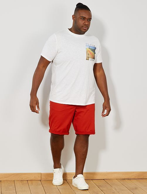 Bermuda chino tinta unita                                         arancione Taglie forti uomo