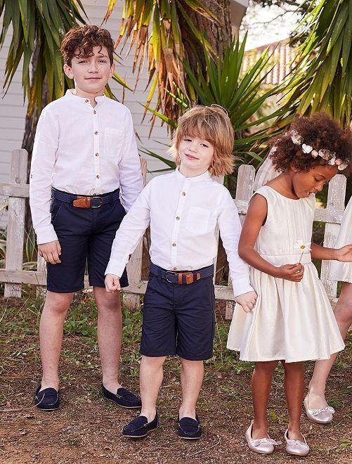Bermuda chino twill                                                                             blu Infanzia bambino