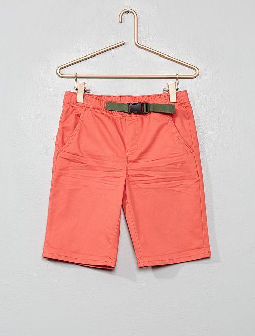 Bermuda cintura clip                                         rosa arancione