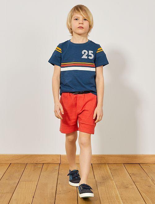 Bermuda maglia fantasia                             rosso Infanzia bambino