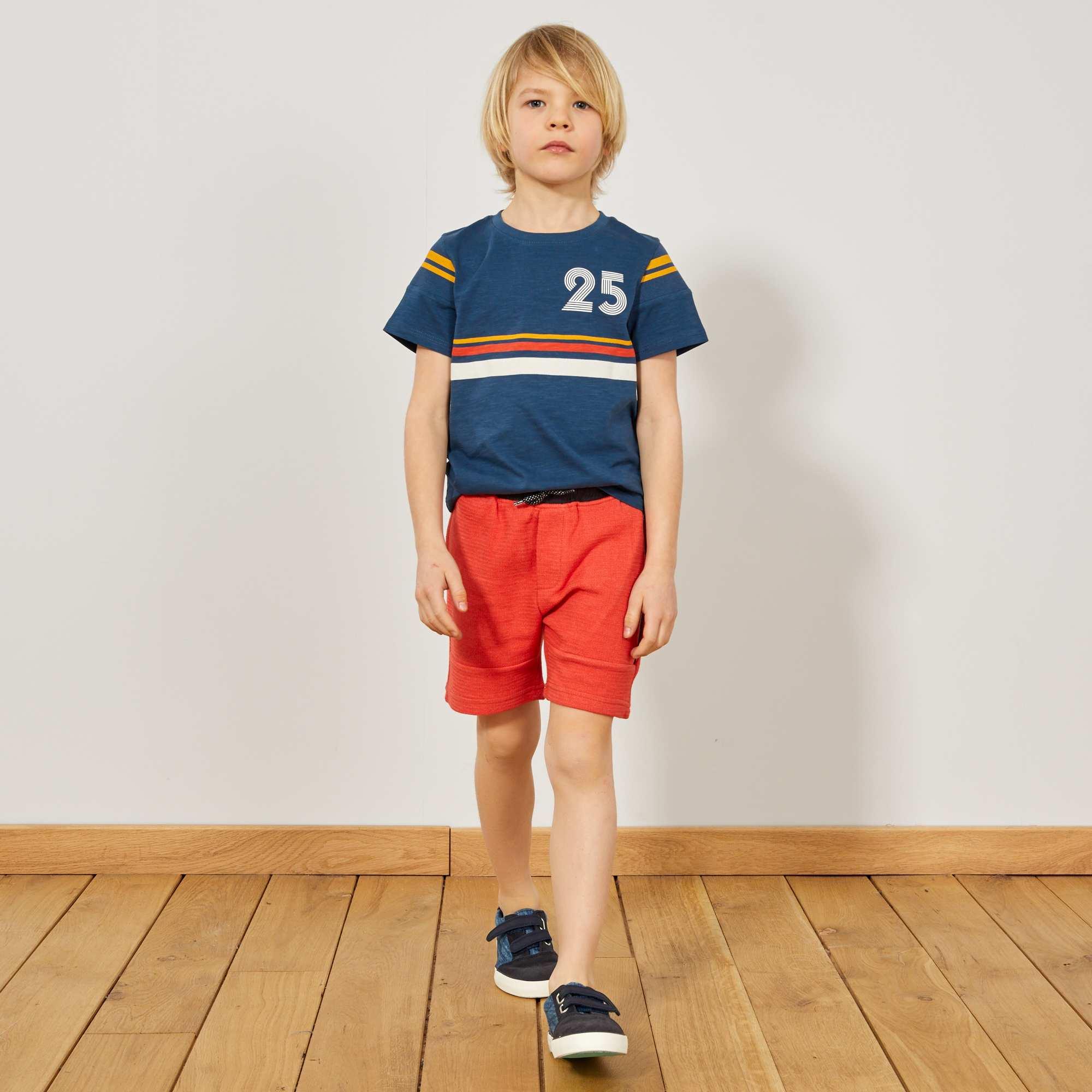 Bermuda maglia fantasia Infanzia bambino - rosso - Kiabi - 9 d9367640eac8