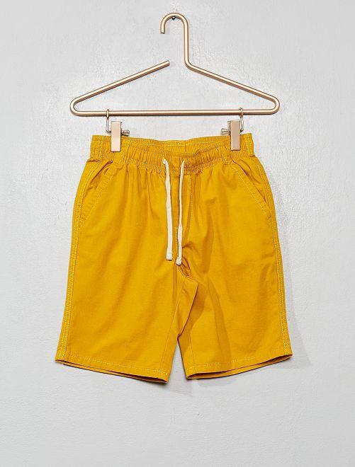 Bermuda regular fit vita elasticizzata                                                                 giallo bronzo