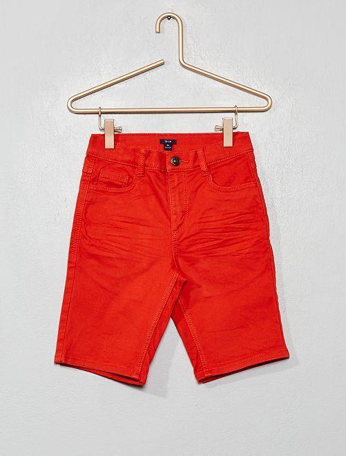 Bermuda slim fit in twill                                                                 rosso