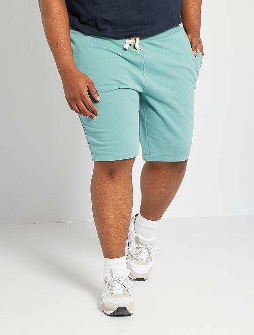 Bermuda sportivi felpati                                                                             blu