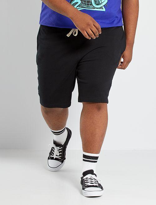Bermuda sportivi felpati                                                                             nero