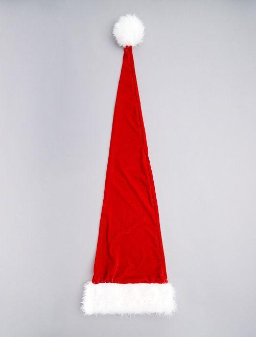 Berretto di Natale extra lungo                             rosso/bianco