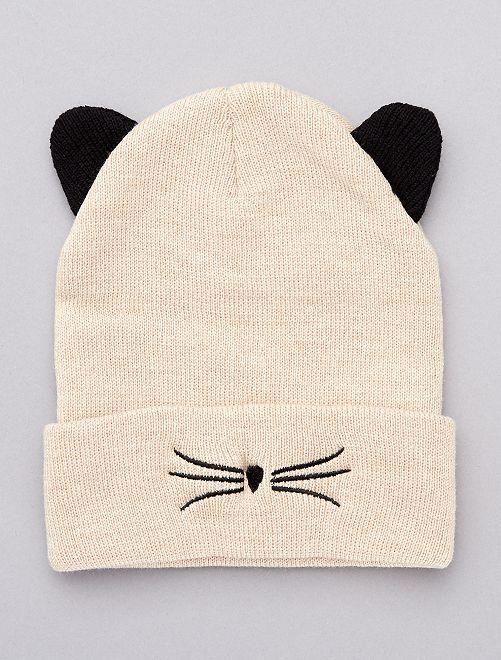 Berretto 'gatto' con orecchie                                         BEIGE