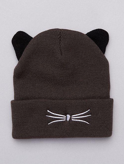 Berretto 'gatto' con orecchie                                         grigio