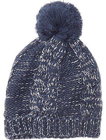 Berretto lavorato a maglia con pompon - Kiabi