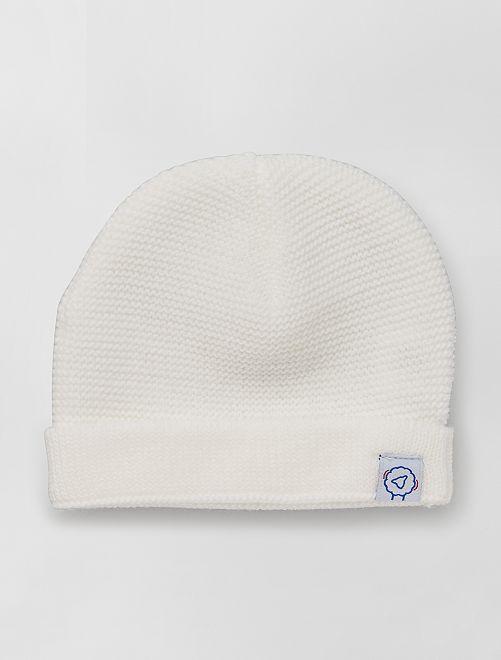 Berretto lavorato a maglia 'La Manufacture de Layette'                             bianco neve