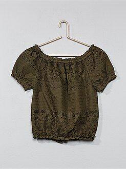 Camicie, bluse - Blusa Bardot ricamata - Kiabi