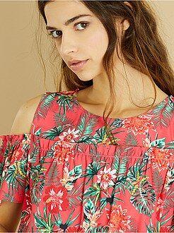 Blusa fiori spalle scoperte - Kiabi