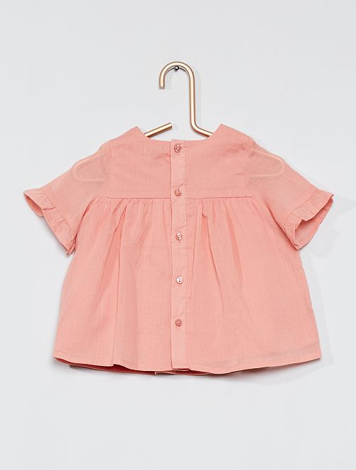 Blusa in crepon                             ROSA