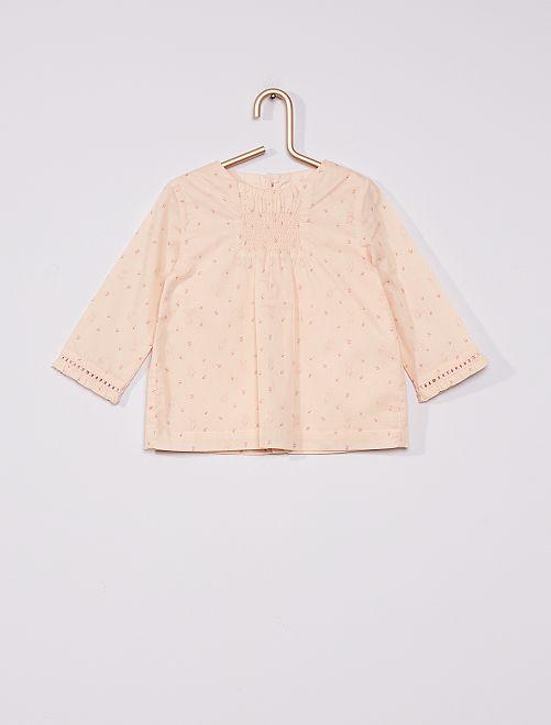 Blusa in voile di cotone                             ROSA