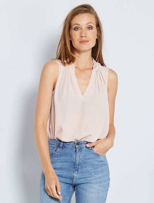 Blusa in voile                                                                                                     ROSA