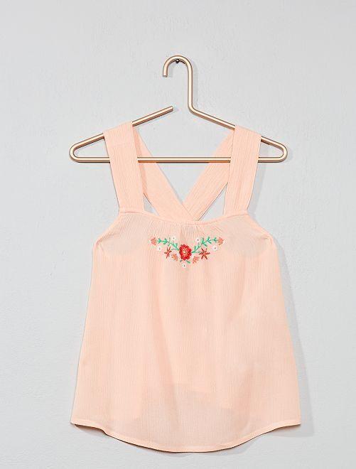 Blusa leggera stampa fiori                             ARANCIONE Infanzia bambina