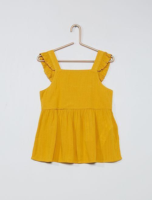 Blusa morbida                                                                 giallo bronzo