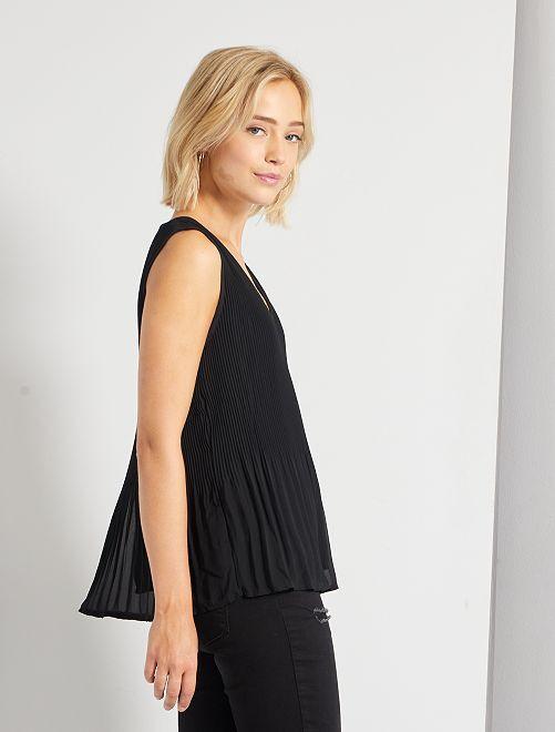 Blusa plissettata                                                     nero