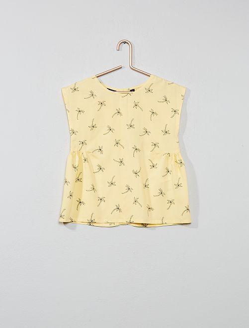 Blusa stampata                                                                                         GIALLO Infanzia bambina