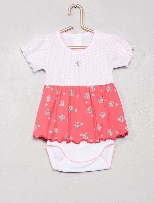 Body abito 'Absorba'                             rosa/bianco