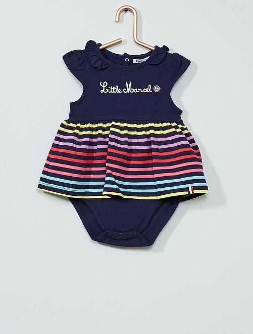 Body effetto vestito 'Little Marcel'                             BLU