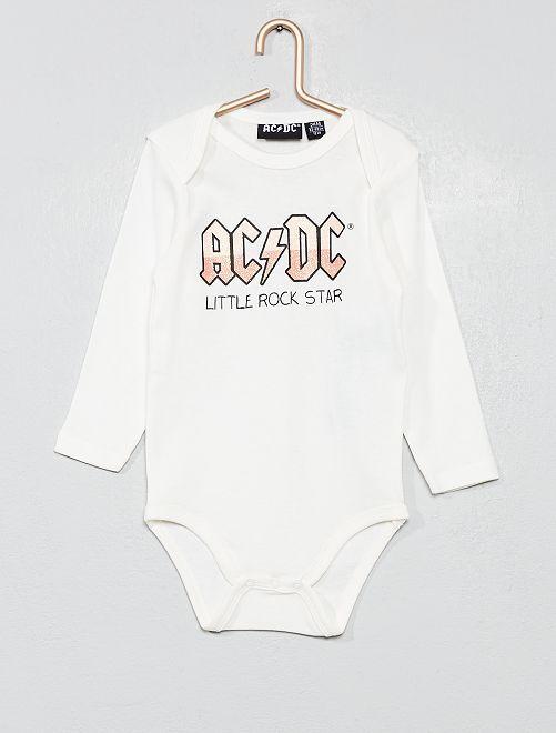 Body puro cotone 'AC/DC'                             BIANCO