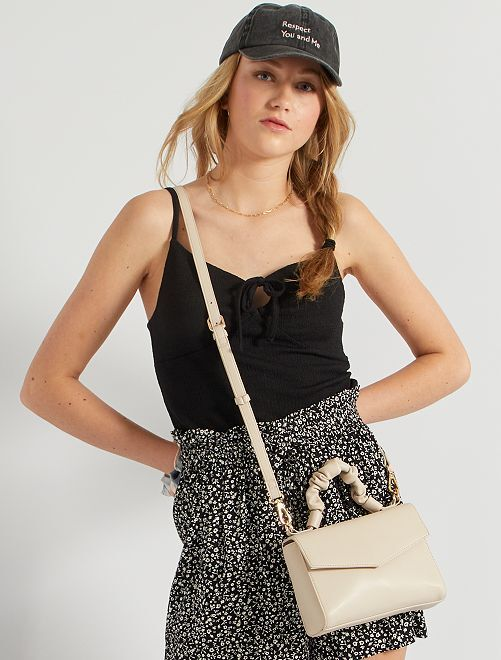Borsa a tracolla in similpelle                                                     beige