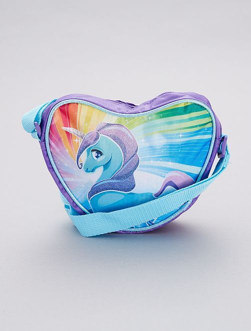 Borsa forma cuore 'Unicorno'                             blu Infanzia bambina
