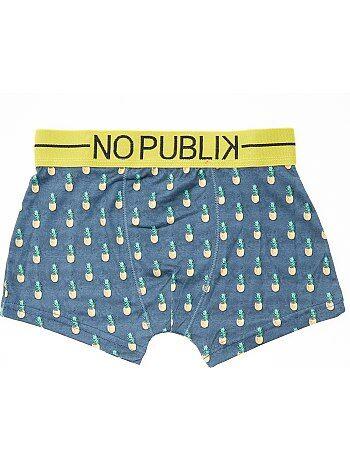 Boxer stampa ananas 'No Publik' - Kiabi