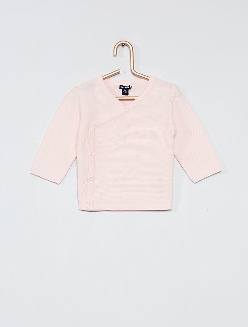 Brassière in cotone ''eco-sostenibile''                                         rosa pallido