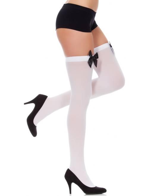 Calze fiocchi fantasia                                          bianco